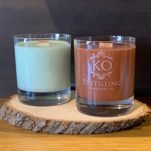 Glassware Candle, Frosted Juniper Scent