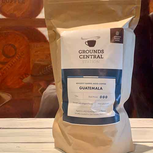 Grounds Central KO Whiskey Barrel Aged Coffee - Dark Roast