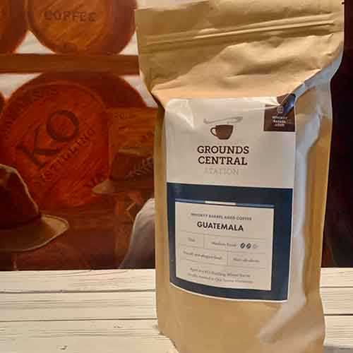 Grounds Central KO Whiskey Barrel Aged Coffee - Medium Roast